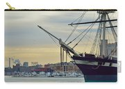Uss Constellation And Domino Sugars - Sloop Of War Warship In Baltimore's Inner Harbor - Us Navy Carry-all Pouch