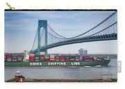Container Ship Passing The Verrazano Bridge Carry-all Pouch