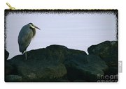 Contemplating Heron Carry-all Pouch
