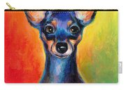 Contemporary Colorful Chihuahua Chiuaua Painting Carry-all Pouch