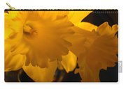 Contemporary Flower Artwork 10 Daffodil Flowers Evening Glow Carry-all Pouch