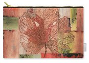 Contemporary Grape Leaf Carry-all Pouch