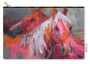 Contemporary Horses Painting Carry-all Pouch