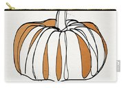 Contemporary Pumpkin- Art By Linda Woods Carry-all Pouch