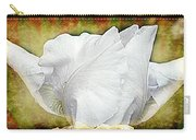 Contemporary White Iris Carry-all Pouch