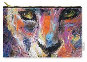 contemporary Wildlife painting cheetah leopard  Carry-all Pouch