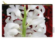 Contrasting Red And White Flowers Carry-all Pouch