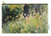 Conversation In A Rose Garden Carry-all Pouch by Pierre Auguste Renoir