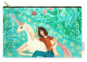 Conversation With A Unicorn Carry-all Pouch