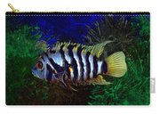 Convict Cichlid Fish Carry-all Pouch
