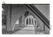 Conway River Walk Black And White Carry-all Pouch