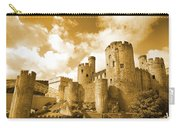 Conwy Castle And The Telford Suspension Bridge North Wales Carry-all Pouch