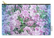 Cool Blue Apple Blossoms Carry-all Pouch
