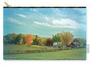 Cool Blue Autumn Farm Carry-all Pouch