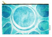 Cool Blue Flower Carry-all Pouch