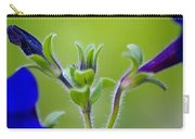 Cool Blue Fuzzy Feeling Carry-all Pouch