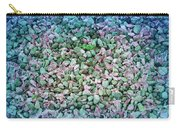Cool Blue Pink Petals On Stones Carry-all Pouch