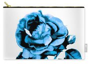 Cool Blue Rose Carry-all Pouch