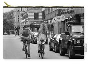 Copenhagen Lovers On Bicycles Bw Carry-all Pouch