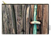 Copper Ground Wire And Knothole On Utility Pole Carry-all Pouch