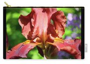 Copper Iris Triptych Squared Carry-all Pouch