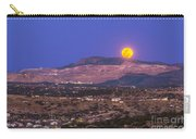 Copper Moon Rising Over The Santa Rita Carry-all Pouch