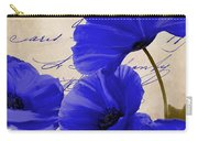 Coquelicots Bleue Carry-all Pouch