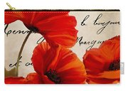 Coquelicots Rouge I Carry-all Pouch
