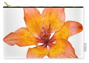Coral Colored Lily Isolated On White Carry-all Pouch