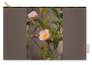 Coral Camellia Carry-all Pouch