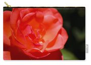 Coral Rose Focus Left Carry-all Pouch
