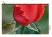 Coral Rosebud At Pilgrim Place In Claremont-california   Carry-all Pouch