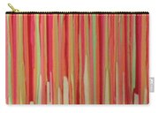 Coral Stripe  Carry-all Pouch
