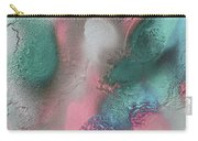 Coral, Turquoise, Teal Carry-all Pouch by Julia Fine Art