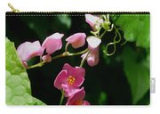 Coral Vine Flower Carry-all Pouch