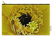 Core Of A Yellow Cactus Flower At Pilgrim Place In Claremont-california Carry-all Pouch