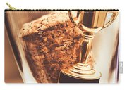 Cork And Trophy Floating In Champagne Flute Carry-all Pouch