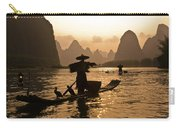 Cormorant Fisherman At Sunset Carry-all Pouch