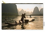 Cormorant Fisherman On The Li River Carry-all Pouch