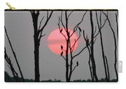 Cormorant Gathering At Sunrise Carry-all Pouch