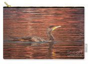 Cormorant On Autumn Red Carry-all Pouch