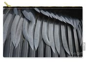 Cormorant Wing Feathers Abstract Carry-all Pouch