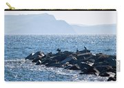 Cormorants At The Cobb - Lyme Regis Carry-all Pouch