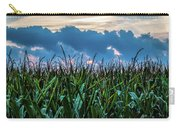 Corn And Clouds Panorama Carry-all Pouch