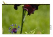 Corn Flower With A Friend Visiting Carry-all Pouch