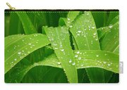 Corn Leaves After The Rain Carry-all Pouch