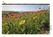 Corn Marigold And Poppies Carry-all Pouch