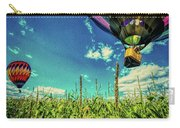 Cornfield View Hot Air Balloons Carry-all Pouch by Bob Orsillo