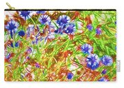 Cornfield With Cornflowers Carry-all Pouch