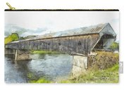 Cornish Windsor Covered Bridge Pencil Carry-all Pouch